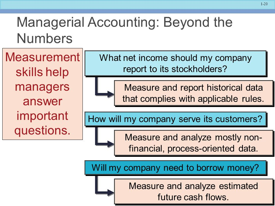 Managerial Accounting: Beyond the Numbers