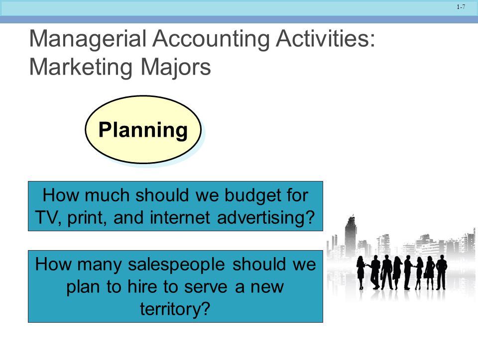 Managerial Accounting Activities: Marketing Majors