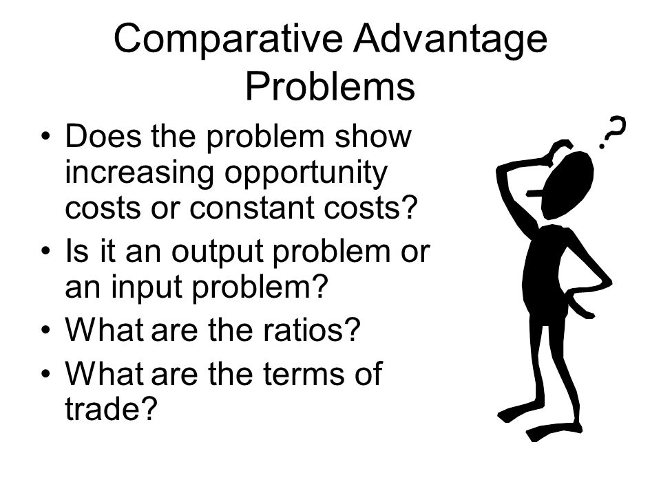 Comparative Advantage Problems