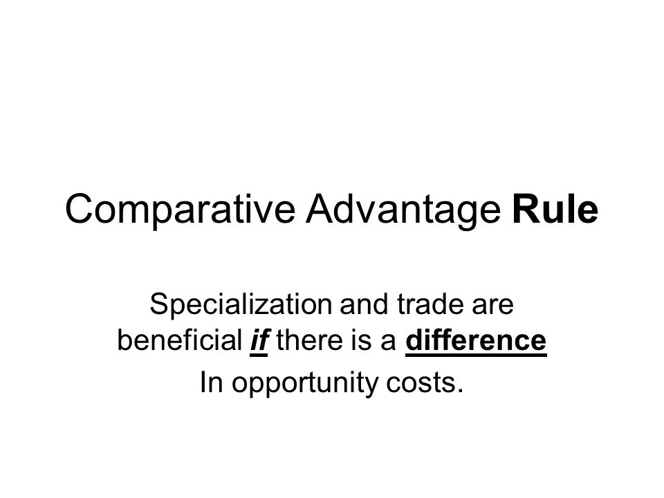 Comparative Advantage Rule