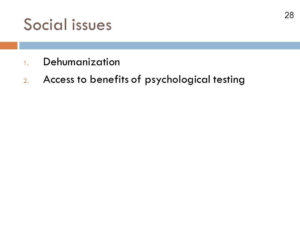 Social issues Dehumanization