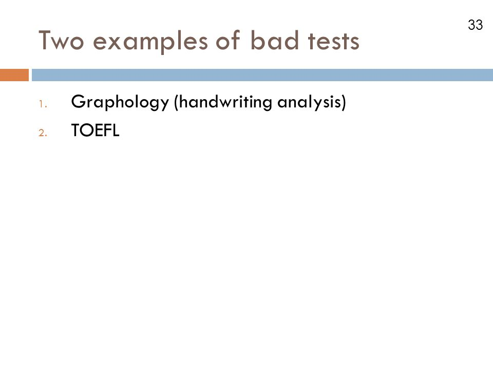Two examples of bad tests