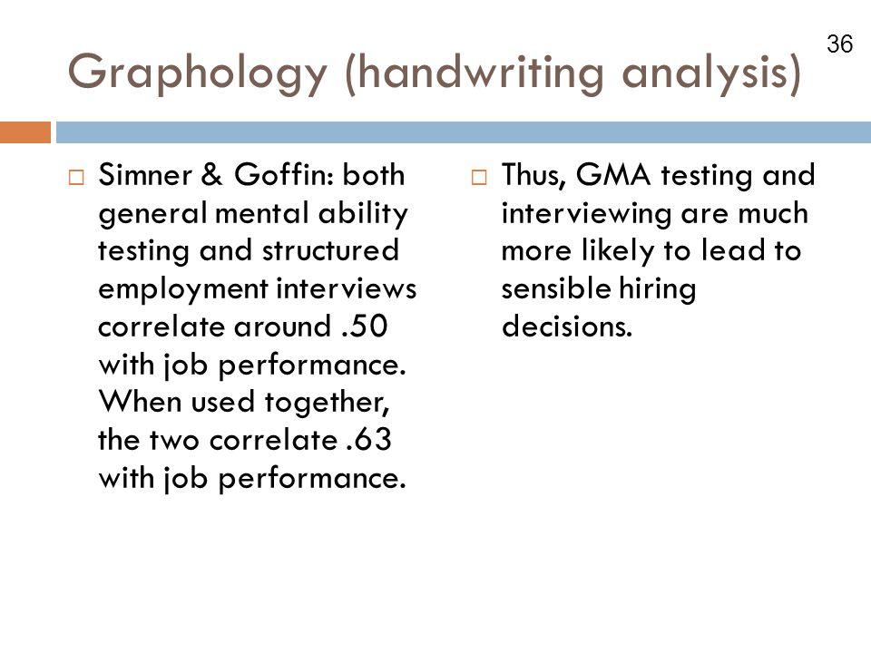 Graphology (handwriting analysis)