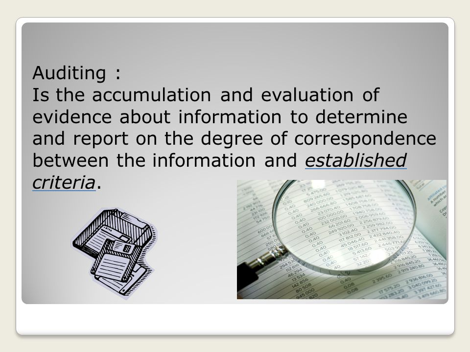 Auditing :
