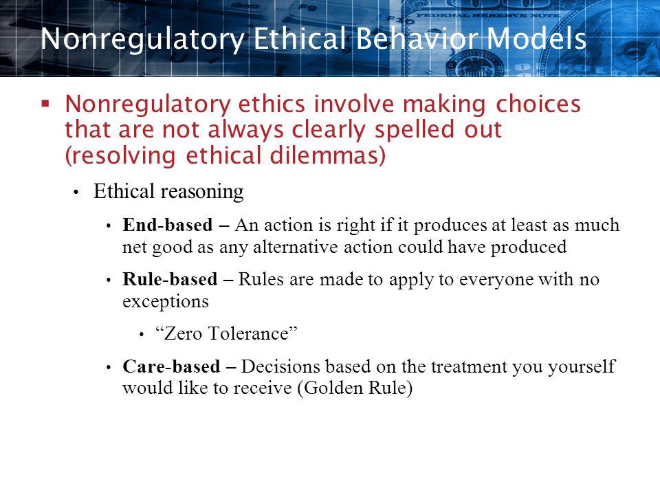 Nonregulatory Ethical Behavior Models