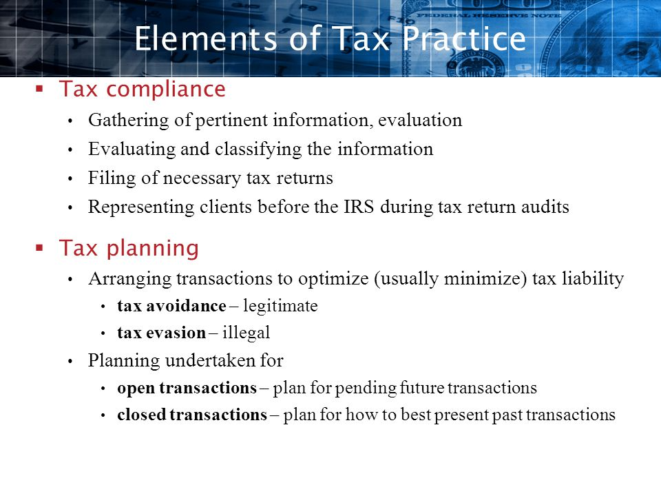 Elements of Tax Practice