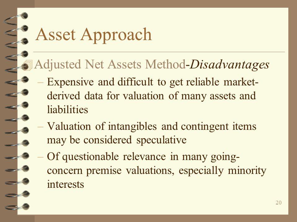 Asset Approach Adjusted Net Assets Method-Disadvantages