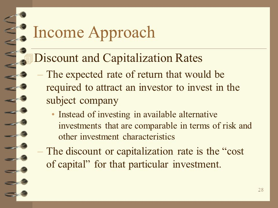 Income Approach Discount and Capitalization Rates