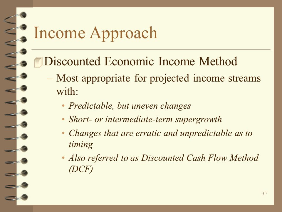 Income Approach Discounted Economic Income Method