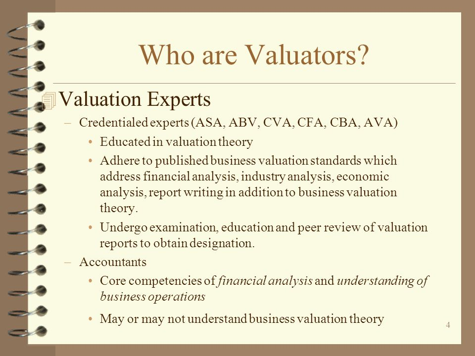 Who are Valuators Valuation Experts