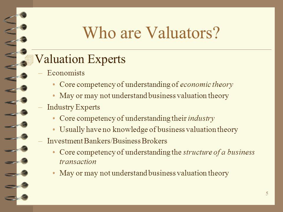 Who are Valuators Valuation Experts Economists