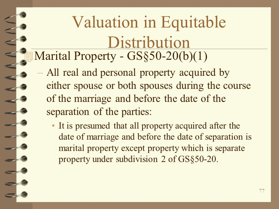 Valuation in Equitable Distribution
