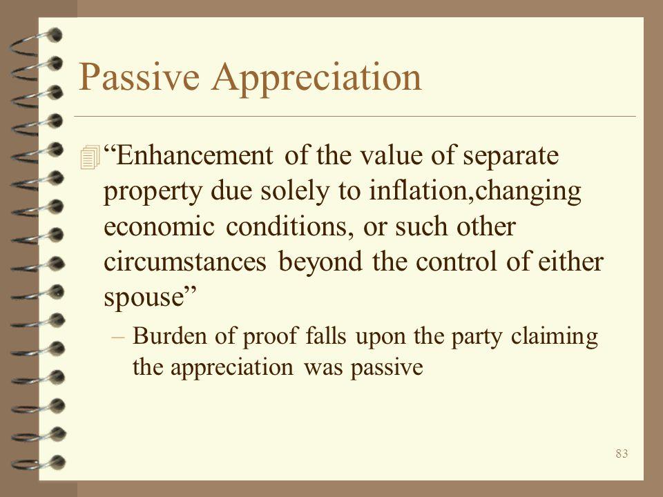 Passive Appreciation