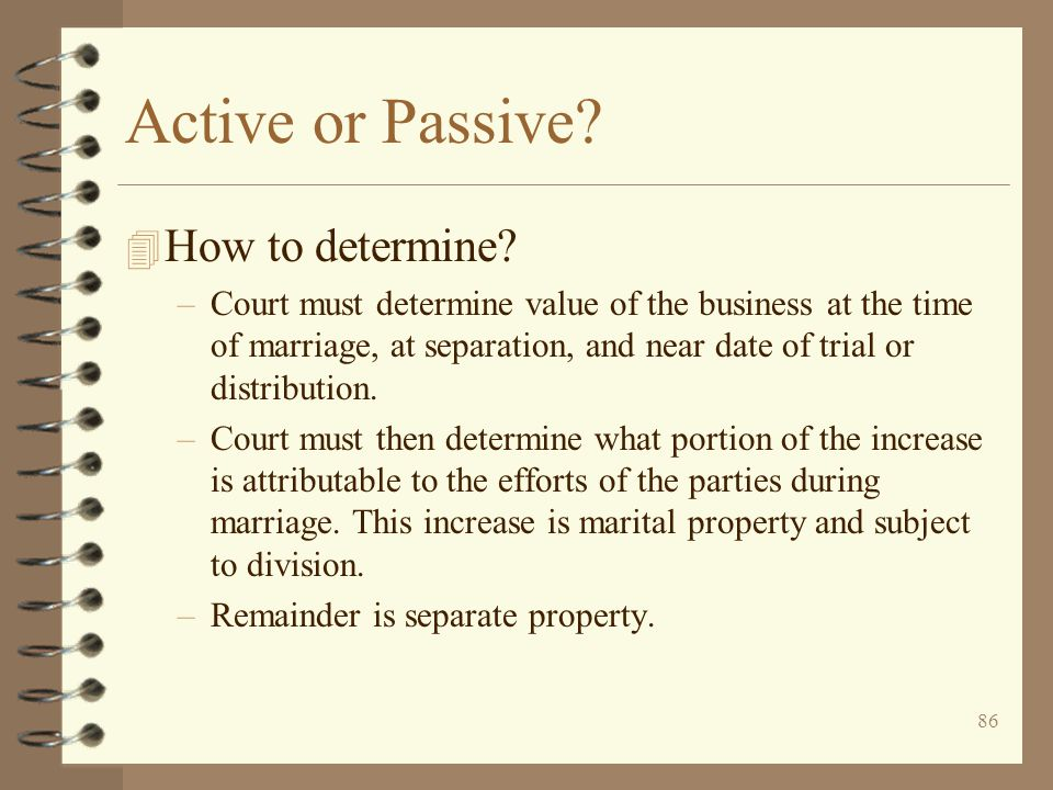 Active or Passive How to determine