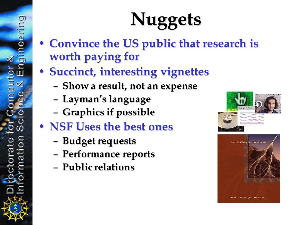 Nuggets Convince the US public that research is worth paying for