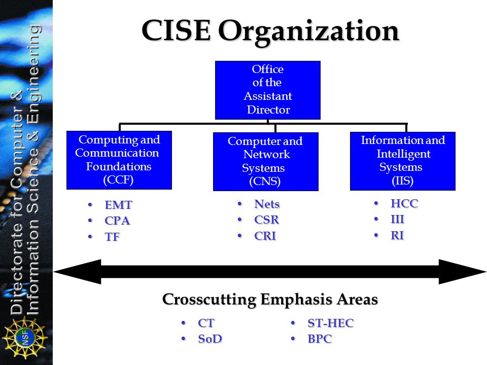 Crosscutting Emphasis Areas