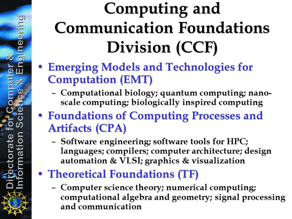 Computing and Communication Foundations Division (CCF)