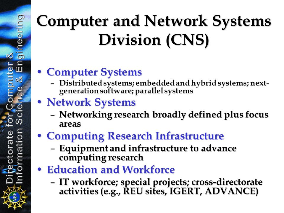Computer and Network Systems Division (CNS)