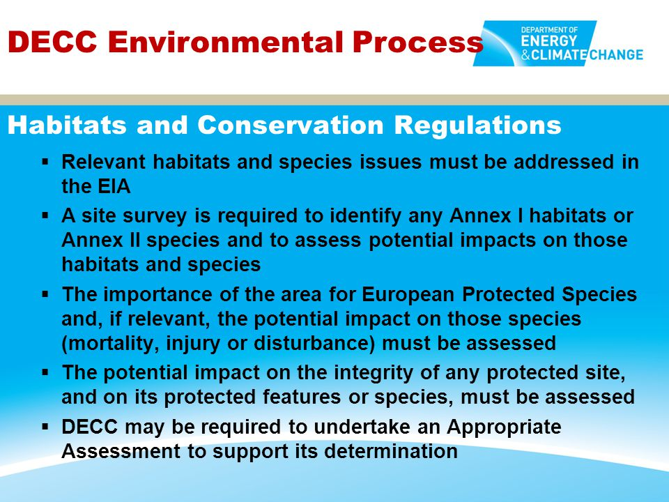Habitats and Conservation Regulations