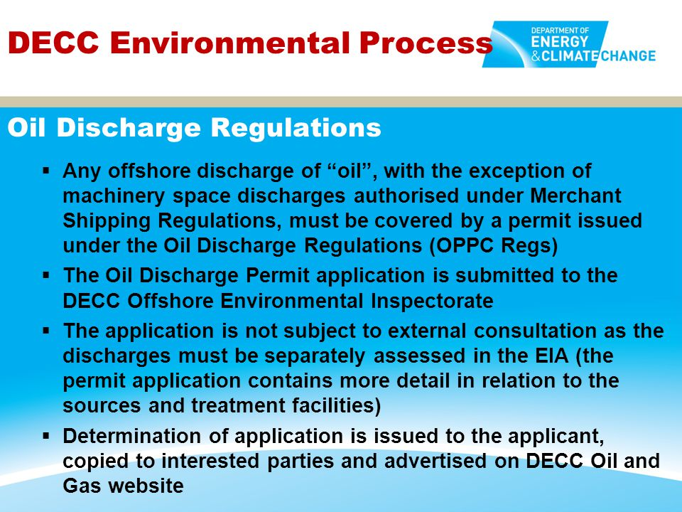 Oil Discharge Regulations