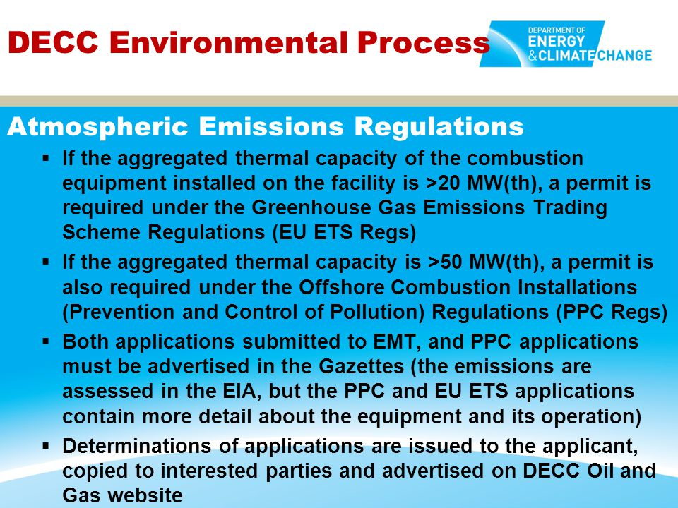 Atmospheric Emissions Regulations