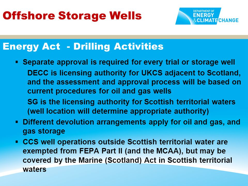 Energy Act - Drilling Activities