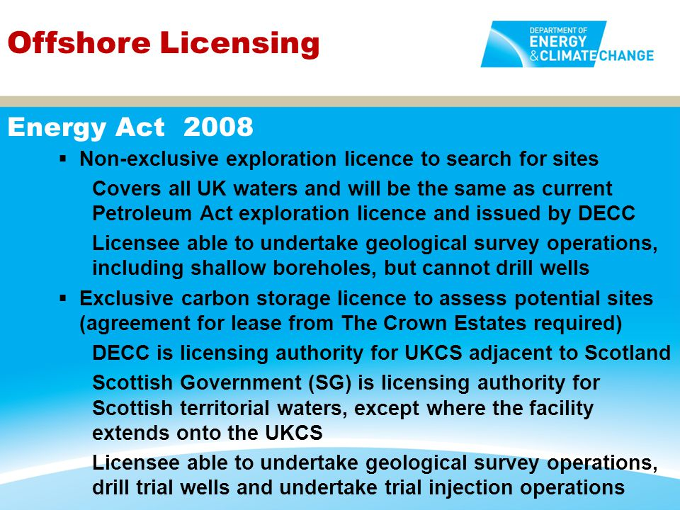 Offshore Licensing Energy Act 2008