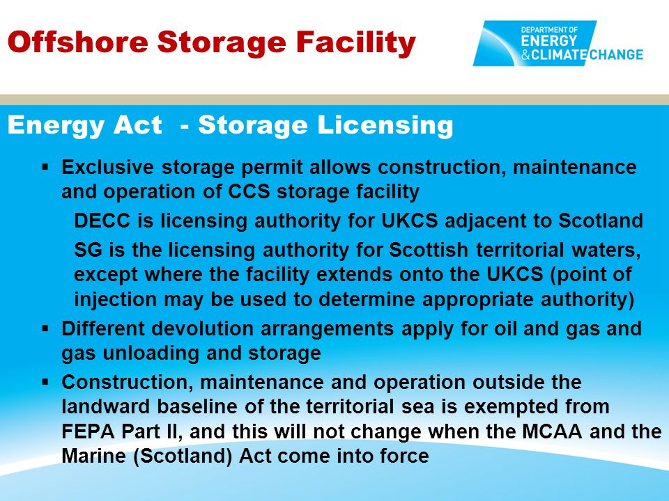 Energy Act - Storage Licensing