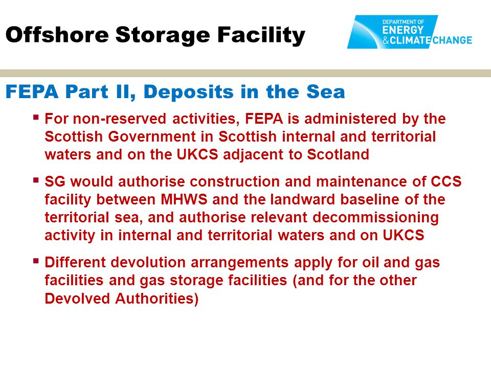 Offshore Storage Facility