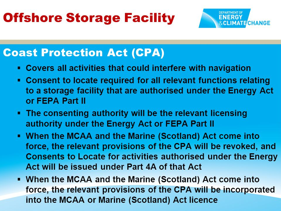 Coast Protection Act (CPA)
