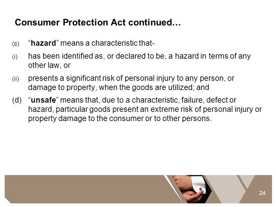 Consumer Protection Act continued…