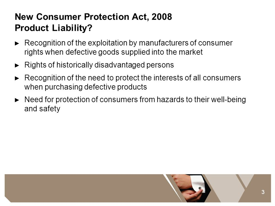 New Consumer Protection Act, 2008 Product Liability