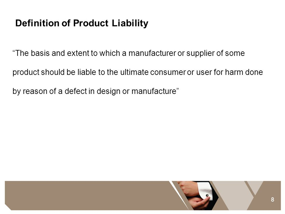 Definition of Product Liability