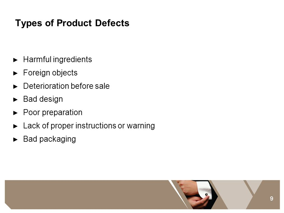 Types of Product Defects