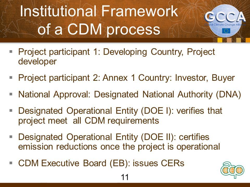 Institutional Framework of a CDM process