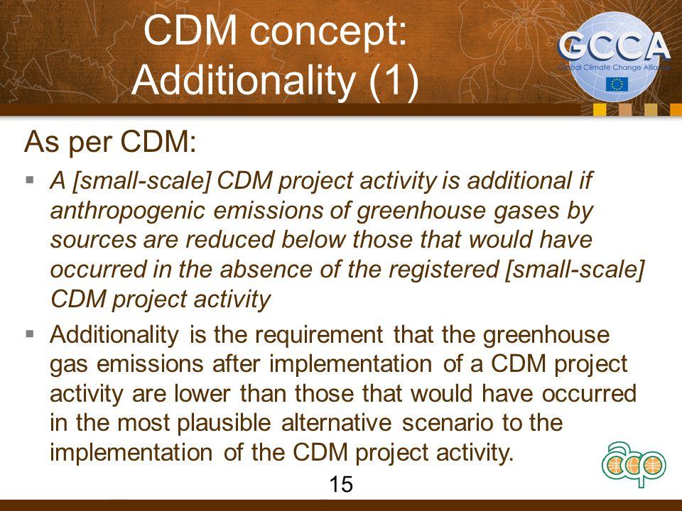CDM concept: Additionality (1)