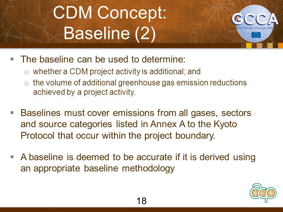 CDM Concept: Baseline (2)