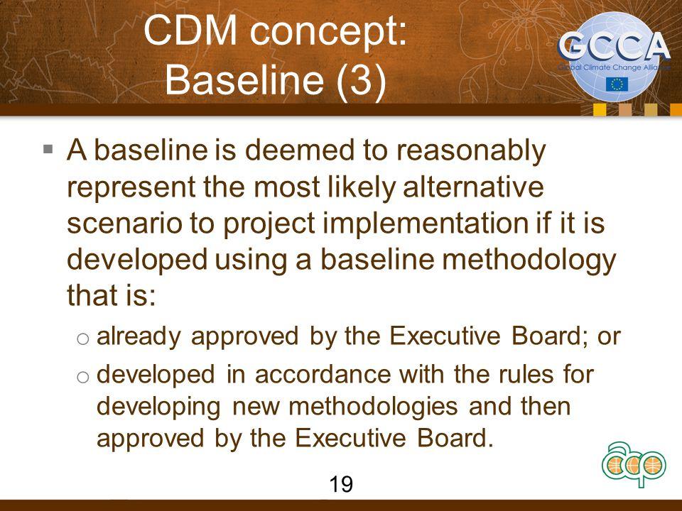 CDM concept: Baseline (3)