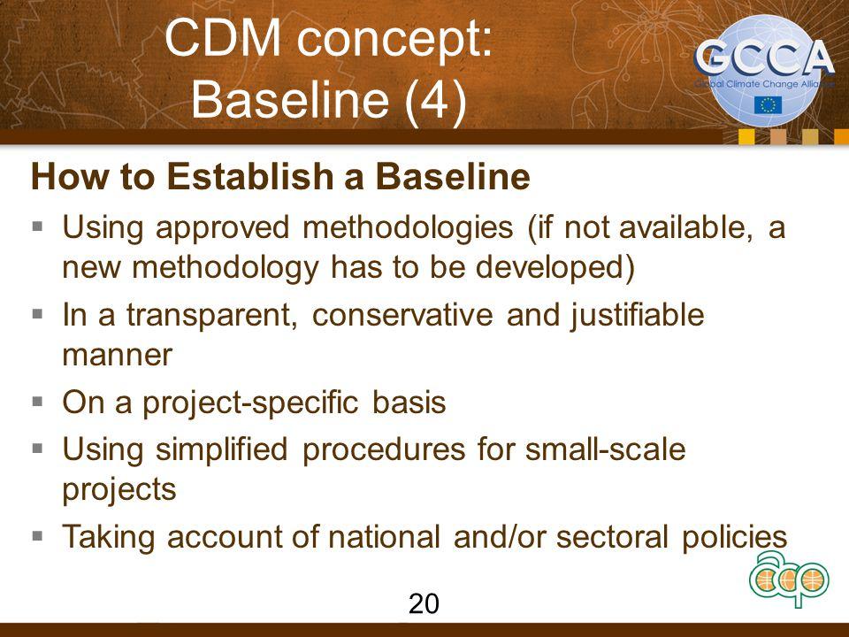 CDM concept: Baseline (4)