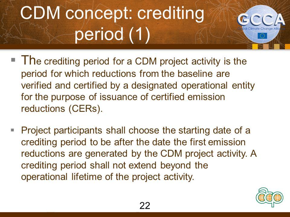 CDM concept: crediting period (1)