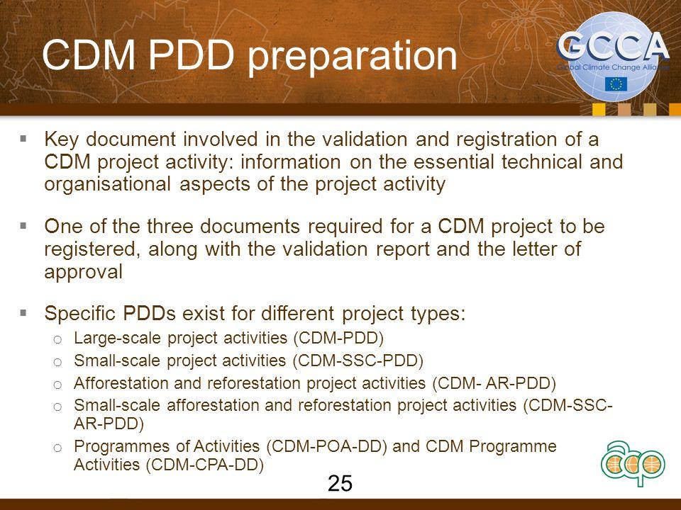 CDM PDD preparation