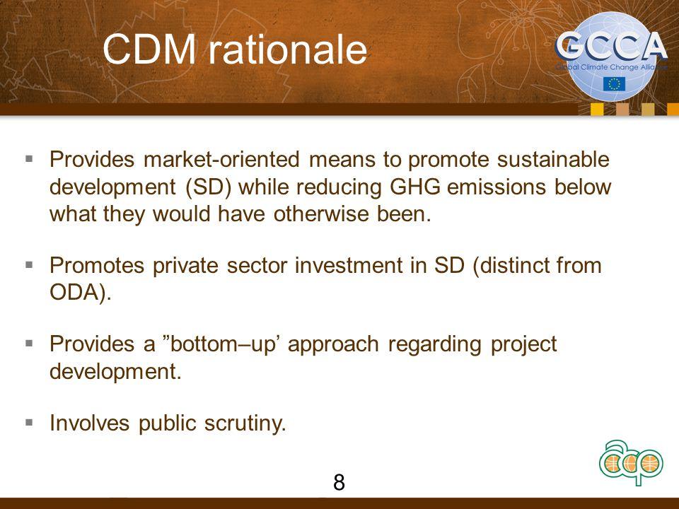 CDM rationale
