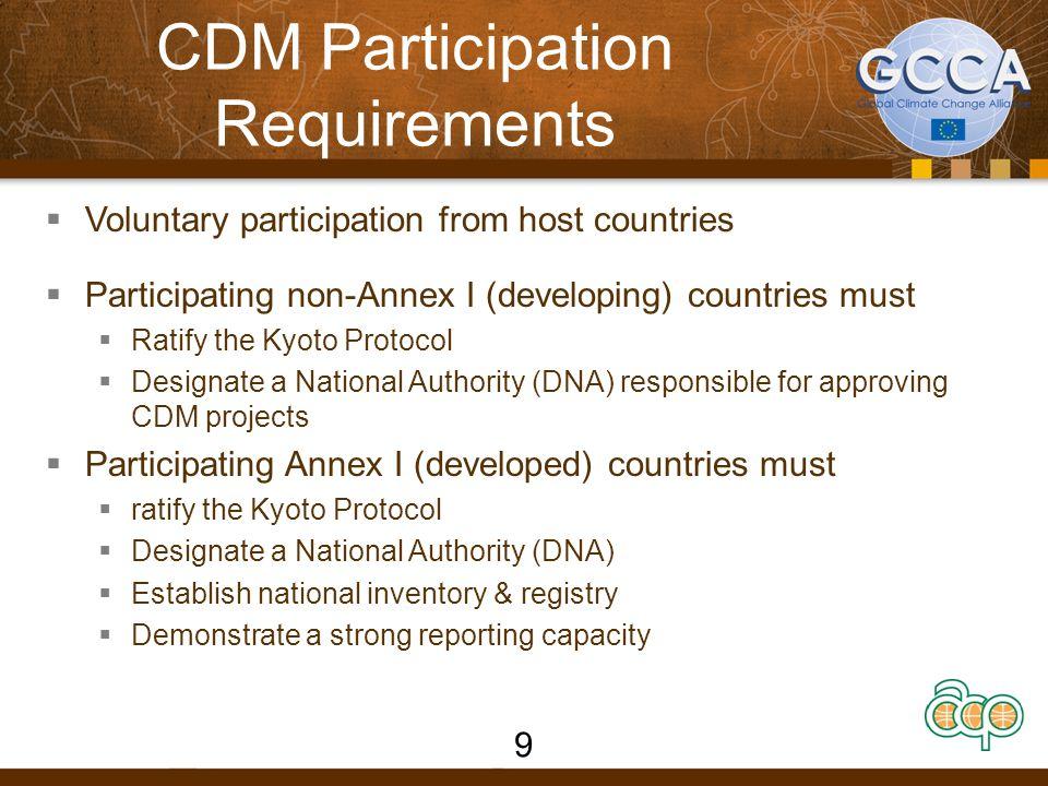 CDM Participation Requirements