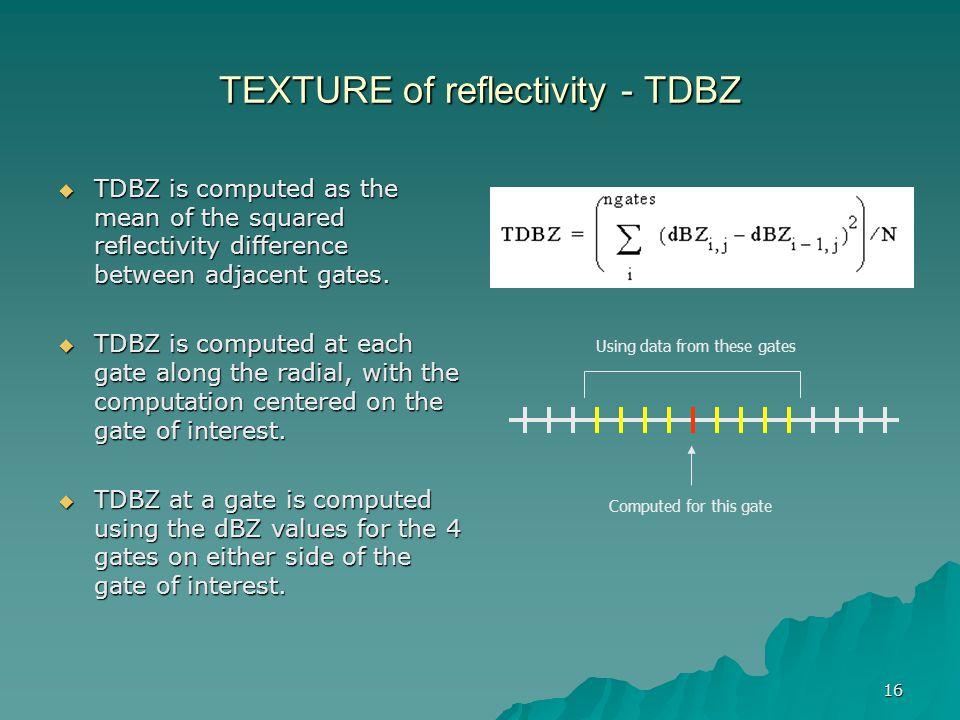 TEXTURE of reflectivity - TDBZ