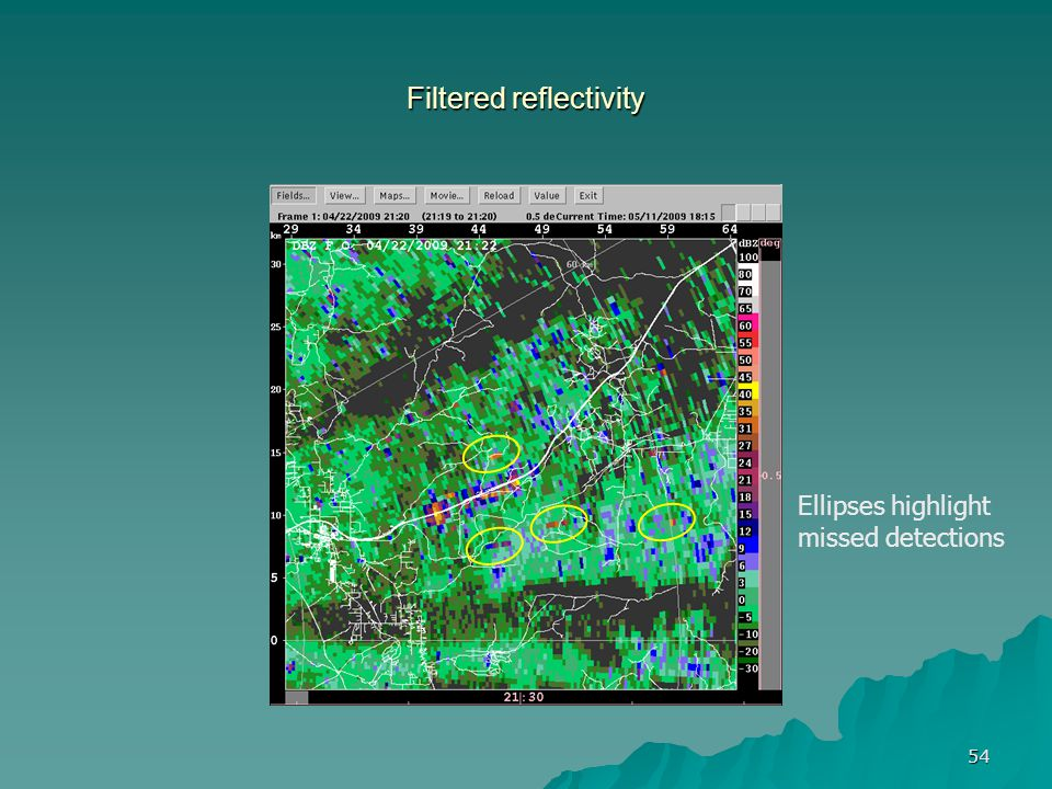 Filtered reflectivity