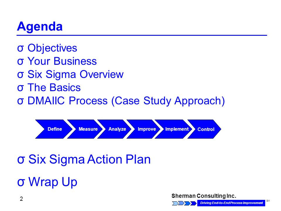 Six sigma sales and marketing case studies