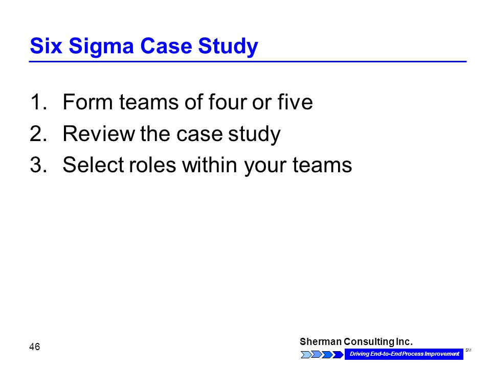 six sigma project charter case study Lean six sigma case studies developing the lean six sigma project charter is one of the most important steps necessary to defining and facilitating the project.