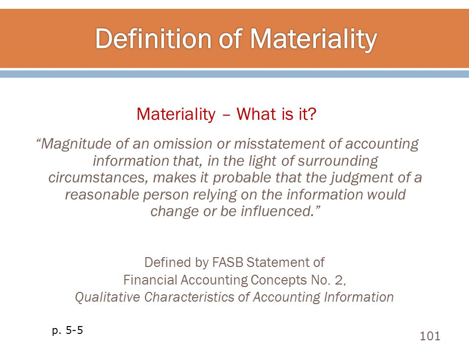 Definition of Materiality