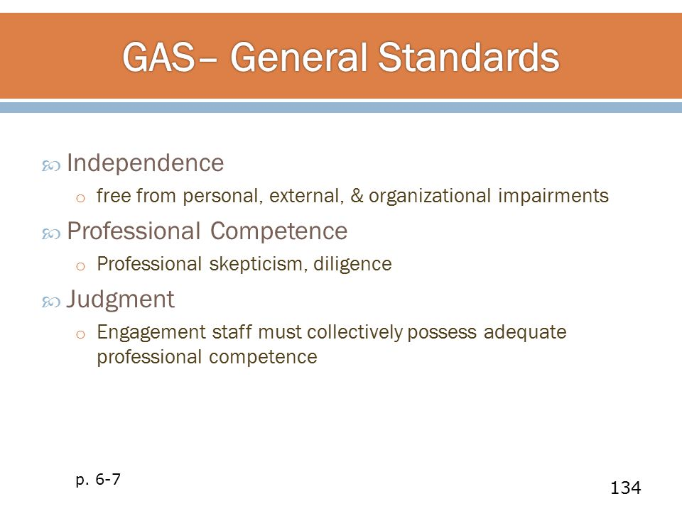 GAS– General Standards