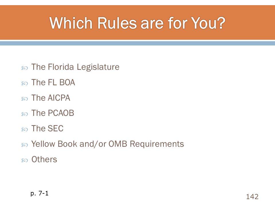 Which Rules are for You The Florida Legislature The FL BOA The AICPA
